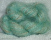combo yarn blend angora rabbit silk mohair mint glitz