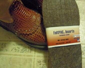 Alpaca Shoe Inserts warm soft durable alpaca felt WOW NEW SPECIAL