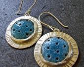JETSON EARRINGS in Periwinkle Blue - Handmade in Enamel and Sterling Silver - One of a Kind Artisan Jewelry