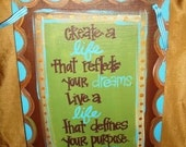 9 x 12 hand painted canvas with quote