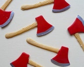 RESERVED for  TrashDisco Hatchet Cupcake Toppers - Set of 12