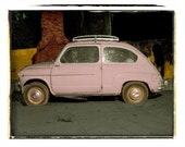 Little Fiat Car - South of France Travel Photography 10x8 inch Fine Art Photograph