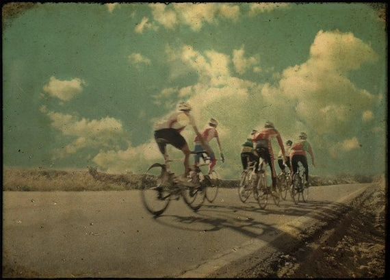 "Hill Climb, France, Cycling Photo, 10"" x 8"" Fine Art Photograph, Signed, Free Shipping"