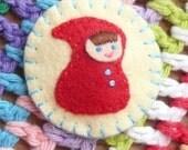 Red Riding Hood Hairclip
