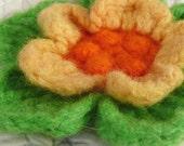 Felted Crochet Wool Flower
