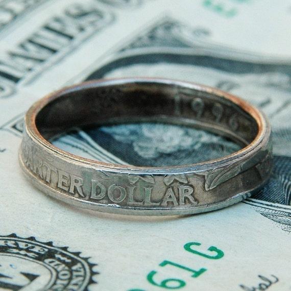 Quarter Ring, Handmade from Genuine US Coin, Unisex