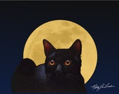 Halloween Cat Art By Melody Lea Lamb ACEO Giclee Print