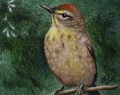 Warbler Bird Bookmark from Original Art  Melody Lea Lamb
