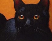 Black Cat Bookmark From Original Art  By Melody Lea Lamb