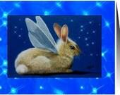 Easter Fairy Bunny Handmade Card by Melody Lea Lamb