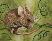 Mouse Art  by Melody Lea Lamb ACEO Giclee Print