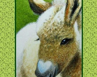 Valentines Day Card from Donkey Art by Melody Lea Lamb