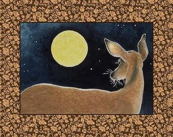 Single Note Card from Original Art by Melody Lea Lamb Deer