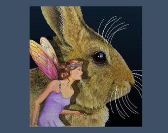 Bunny Bookmark from Original Art  Melody Lea Lamb
