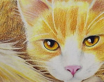 Cat Art By Melody Lea Lamb ACEO Giclee Print