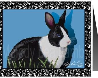 Single Note Card from Original Art by Melody Lea Lamb Rabbit