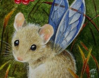 Fairy Mouse Art Melody Lea Lamb ACEO OE Giclee Print