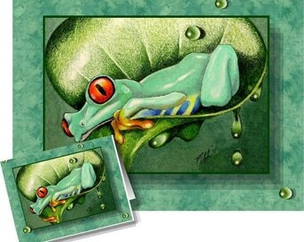 Happy Tree Frog Greeting Card Melody Lea Lamb