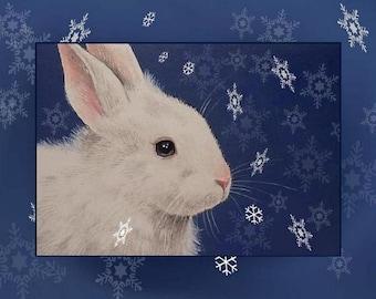 Snow Bunny-Three Card Melody Lea Lamb Christmas Greetings