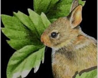 Bunny Rabbit Bookmark from Original Art  Melody Lea Lamb