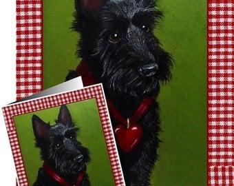 Valentine's Day Card Scottie Dog by Melody Lea Lamb