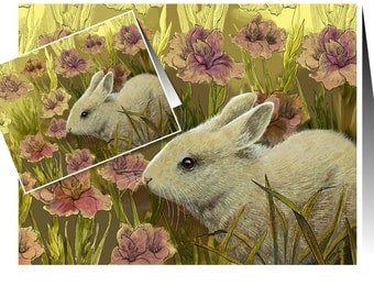 Easter Bunny Spring Handmade Card by Melody Lea Lamb