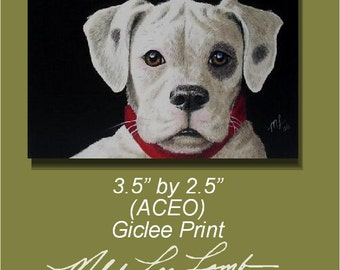 Boxer Dog Art by Melody Lea Lamb ACEO Print