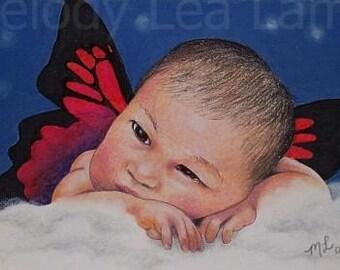 Fantasy Fairy Art By Melody Lea Lamb ACEO Giclee Print
