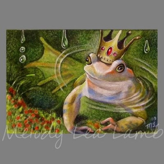 Frog Prince Two Melody Lea Lamb ACEO Print
