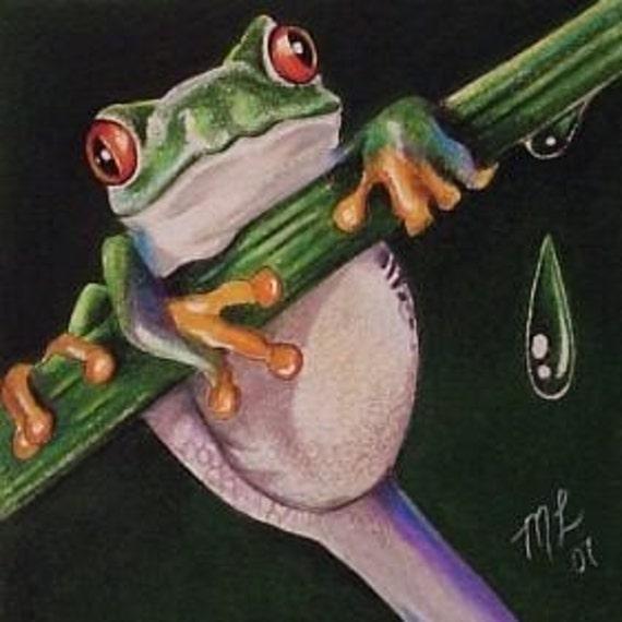 Tree Frog Art Melody Lea Lamb ACEO Print