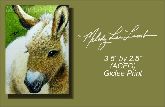 Donkey Art Melody Lea Lamb ACEO Print