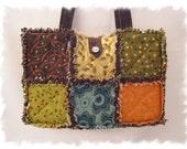 Shabby n Chic Chocolate Tranquility Custom Boutique Rag Tote Handbag Diaper Bag