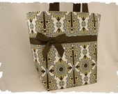 Kiwi Chocolate Spa Damask Boutique Diaper Bag Tote