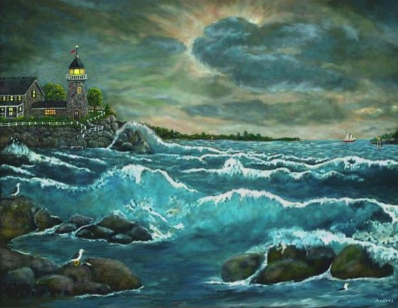 Hobson's Lighthouse by Ave Hurley BOGO Get Free Art Print FREE Shipping