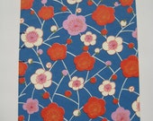 Red and White Yuzen Blossoms Journal