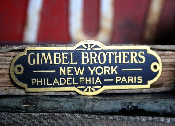 Vintage GIMBEL Brothers New York Philadelphia PARIS 1 Tag Jewelry Altered Art Mixed Media W