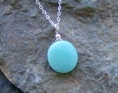 SALE - Going Out of Business - Amazonite Necklace with Sterling Silver Chain