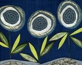 three flowers archival print