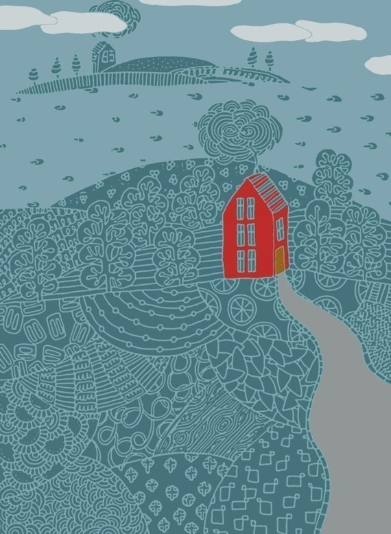 island house archival print