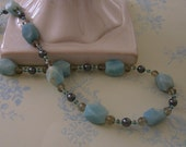Amazonite and Grey Necklace
