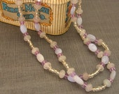 Pale Purple Calcedony Necklace