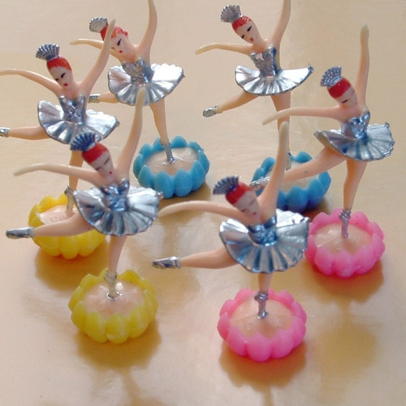 Silver and Gold Ballerinas - Set of 6