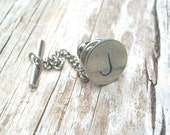 Custom Hand Stamped Tie Tack Plain Font
