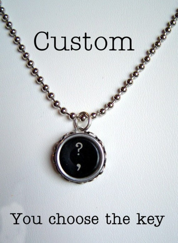 CUSTOM VINTAGE TYPEWRITER ONE KEY NECKLACE