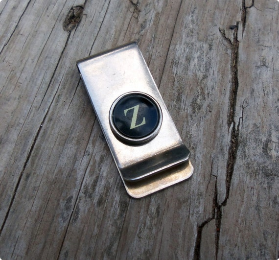 Letter Z Vintage Typewriter Key Money Clip