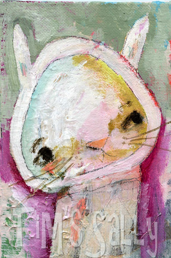 rabbit original painting - Henry - by timssally