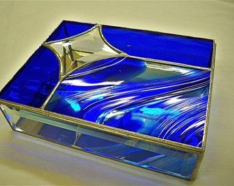 JEWELRY BOX Medium Star Cobalt Blue