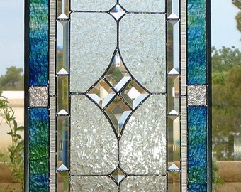 Stained glass Window Panel, Velvet n Lace, Custom-made-to-Order