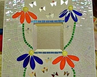 Butterfly Garden Mirror Frame