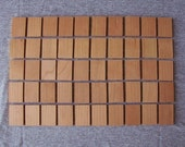 Cherry Wood Tiles, Wooden Rectangles Set of 50 - Perfect for Pendants and Charms